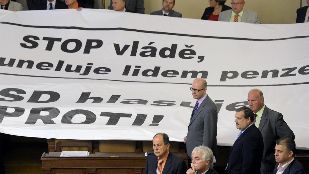 Transparent ČSSD proti důchodové reformě
