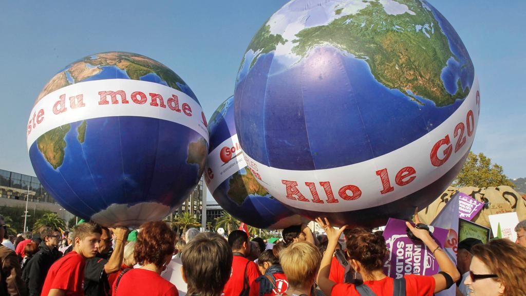 Protest antiglobalistů v Nice
