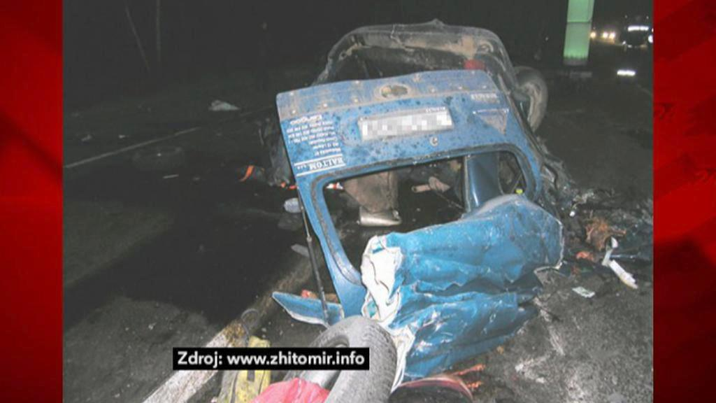 Následky nehody Čechů na Ukrajině