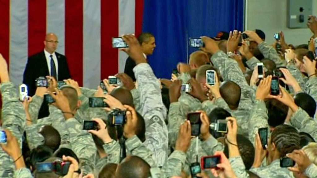 Barack Obama mezi americkými válečnými veterány