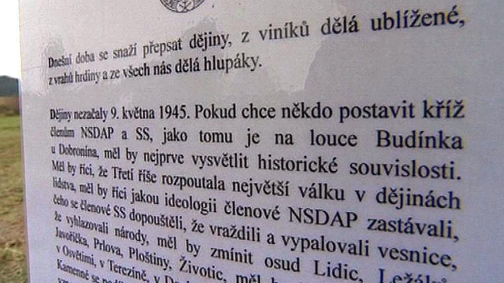 Leták ČSNS na louce Budínka