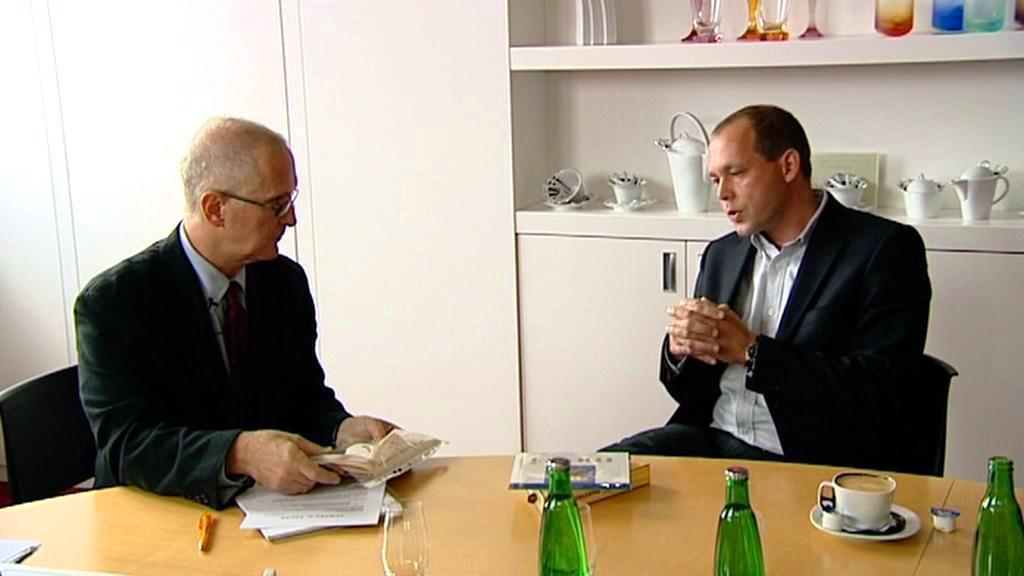 Ed Fagan s primátorem Petrem Kulhánkem