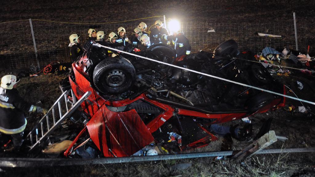 Nehoda na maďarské dálnici