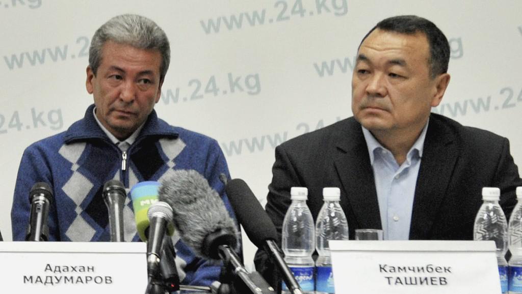Adachan Madumarov (vlevo) a Kamčybek Tašijev