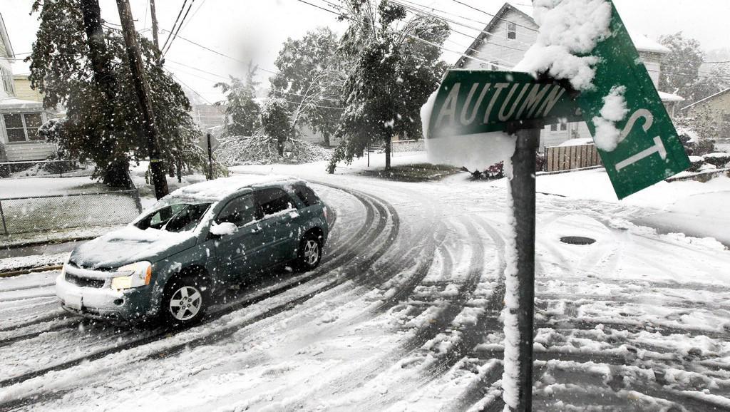 Sníh v Americe