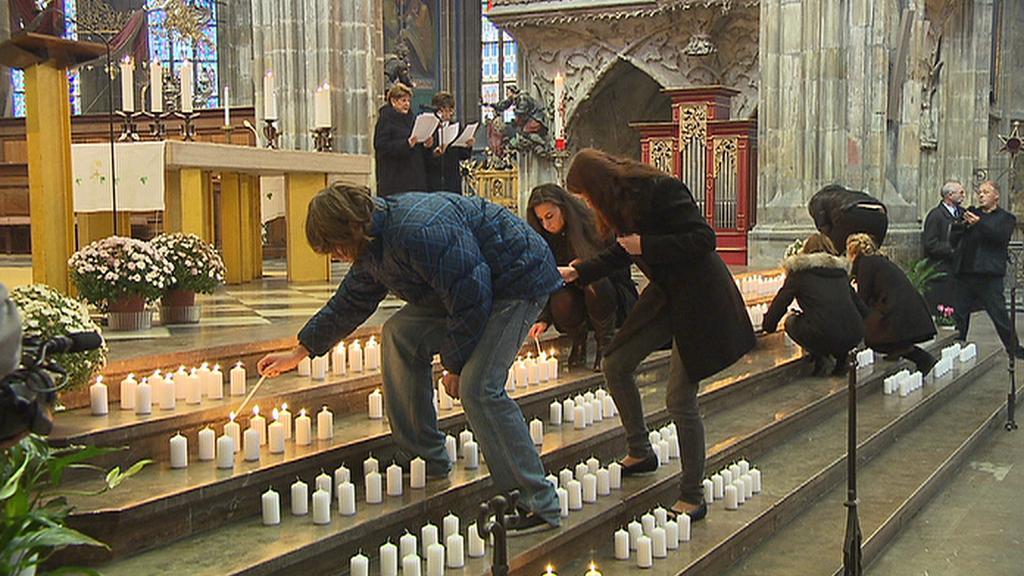 Mše v chrámu sv. Víta