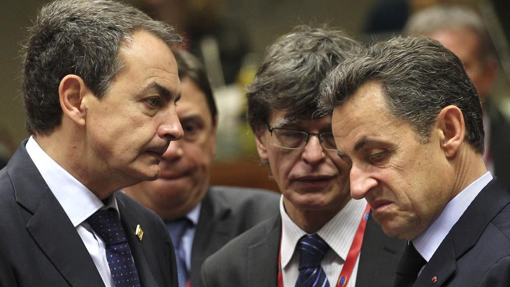José Luis Zapatero a Nicolas Sarkozy