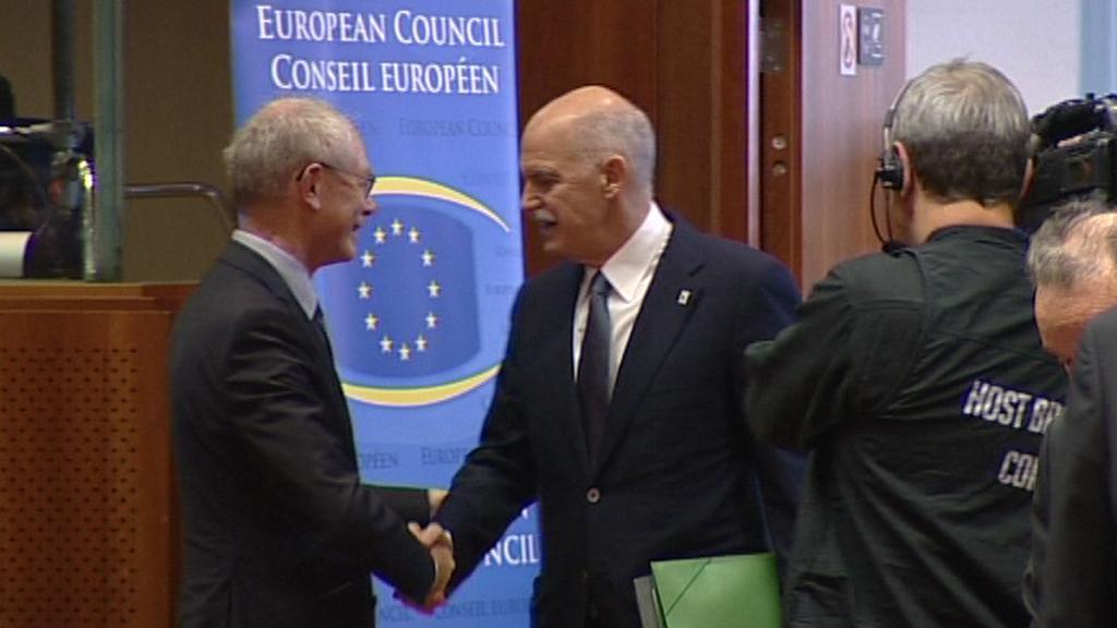 Herman Van Rompuy a řecký premiér Jorgos Papandreu