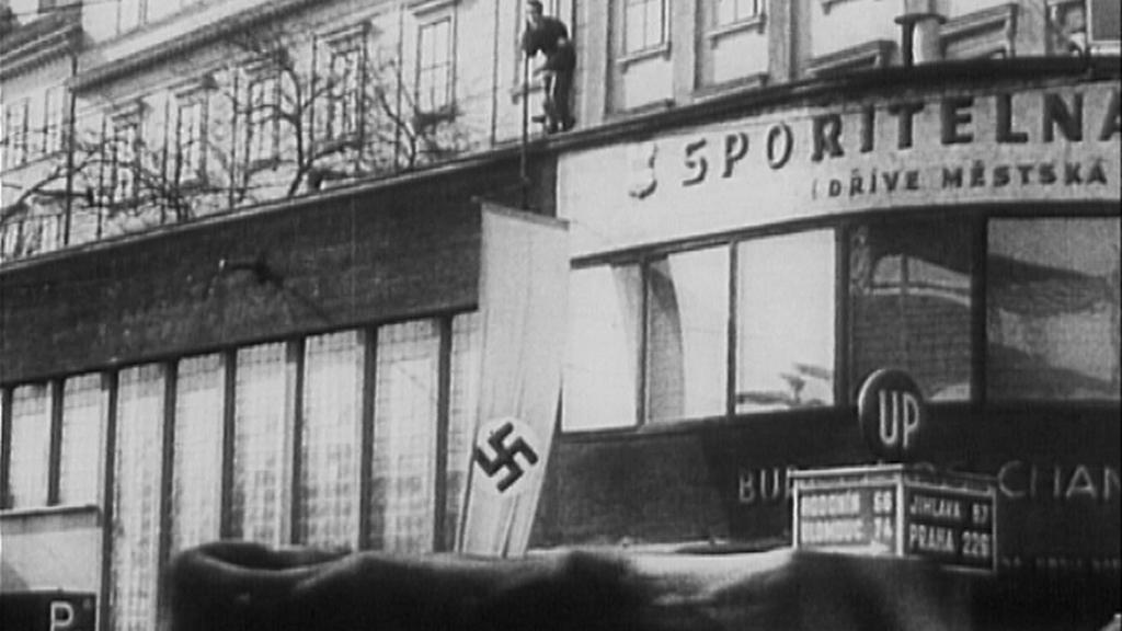 Nacistická vlajka v Čechách
