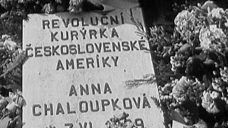Náhrobní deska Anny Chaloupkové