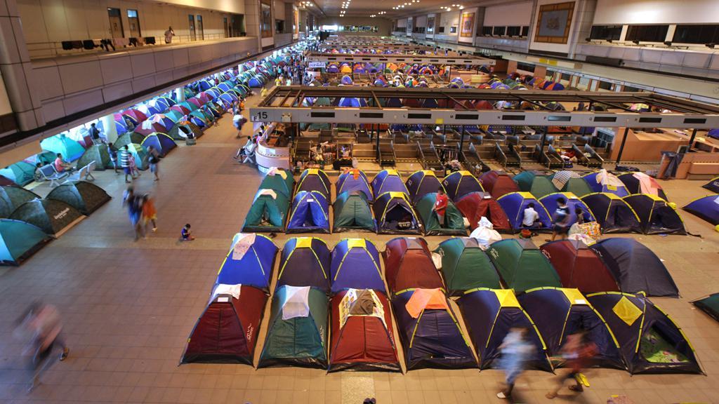 Evakuační centrum v Thajsku