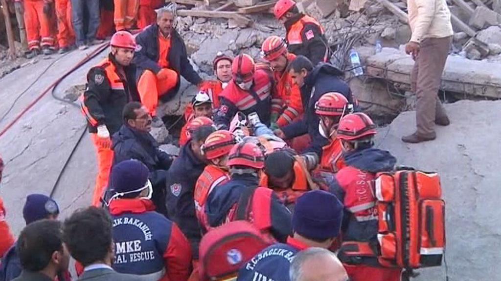 Záchranné akce v Turecku