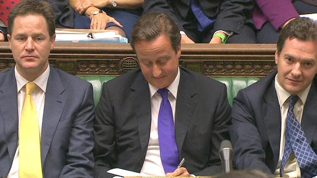 David Cameron v parlamentu