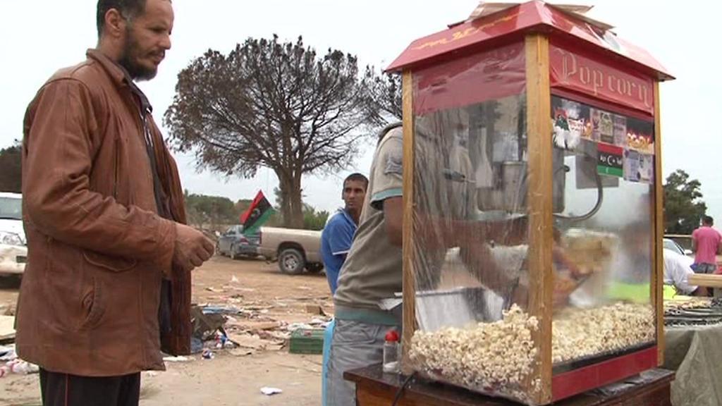 V Tripolisu se už prodává i popcorn