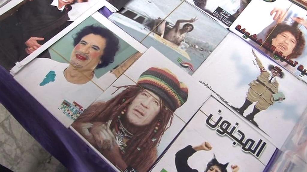 Kaddáfí v nejrůznějších podobách