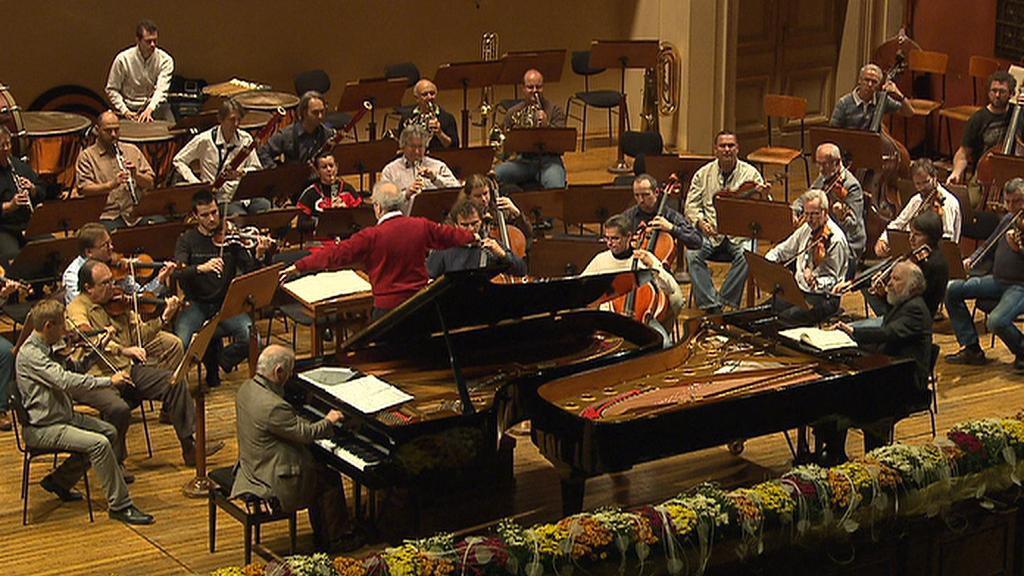Zkouška na koncert k  sedmdesátinám Lawrence Fostera