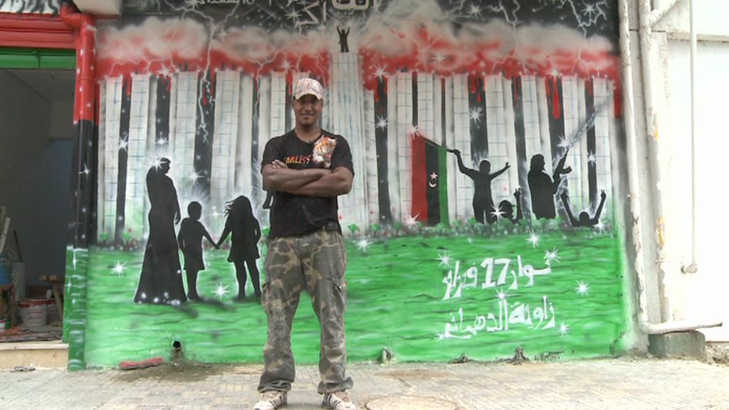 Libyjské pouliční umění