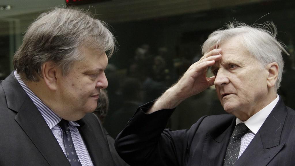 Evangelos Venizelos a Jean Claude-Trichet