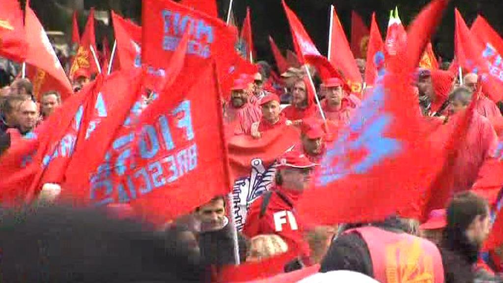 Stávka odborářů v Římě