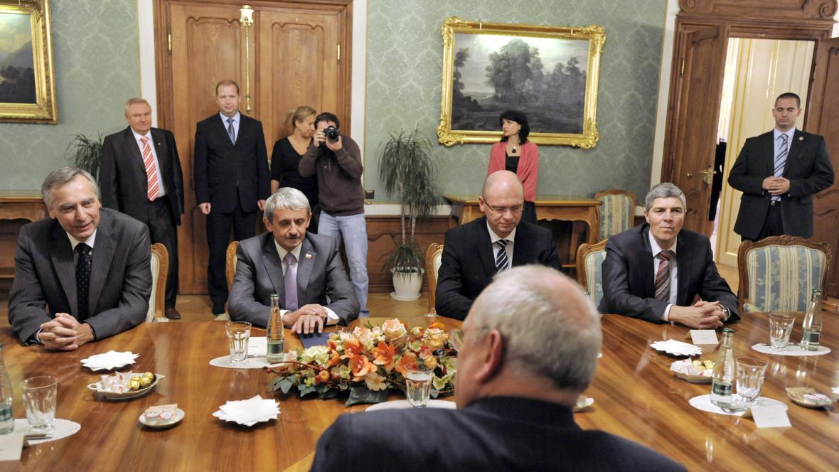 Ivan Gašparovič přijal předsedy koaličních stran