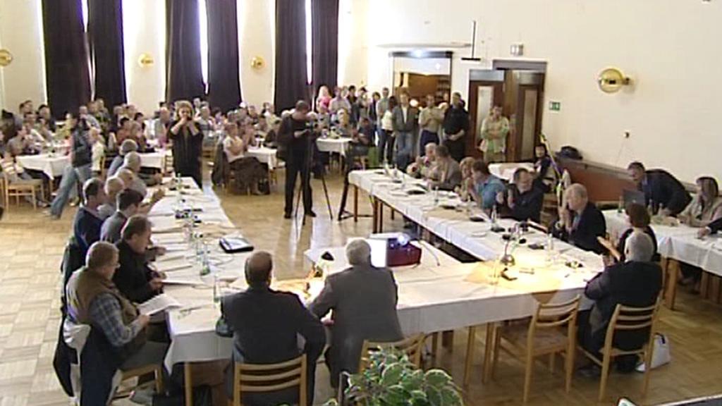 Jednání zastupitelstva ve Varnsdorfu