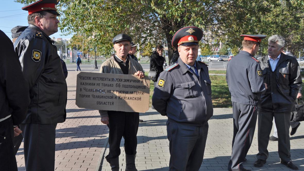 Proti pomníku legionářům protestoval jediný člověk