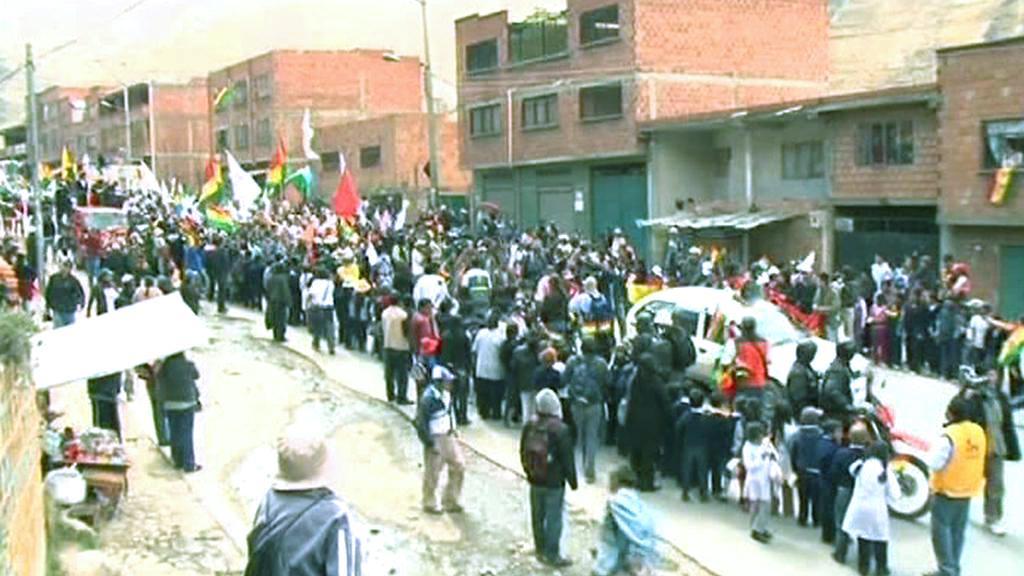 Protestní pochod indiánů