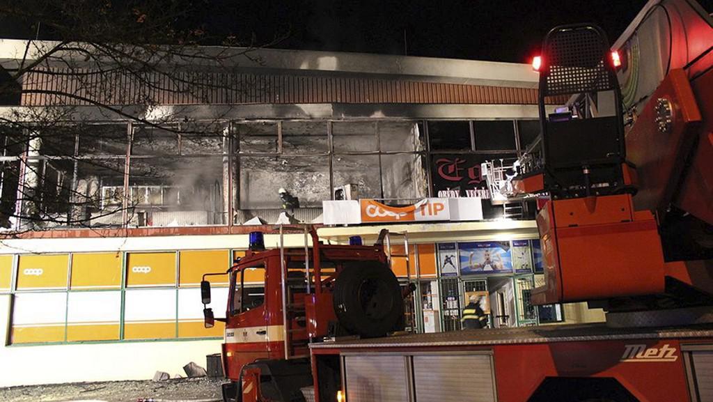 Zásah hasičů v Českém Krumlově