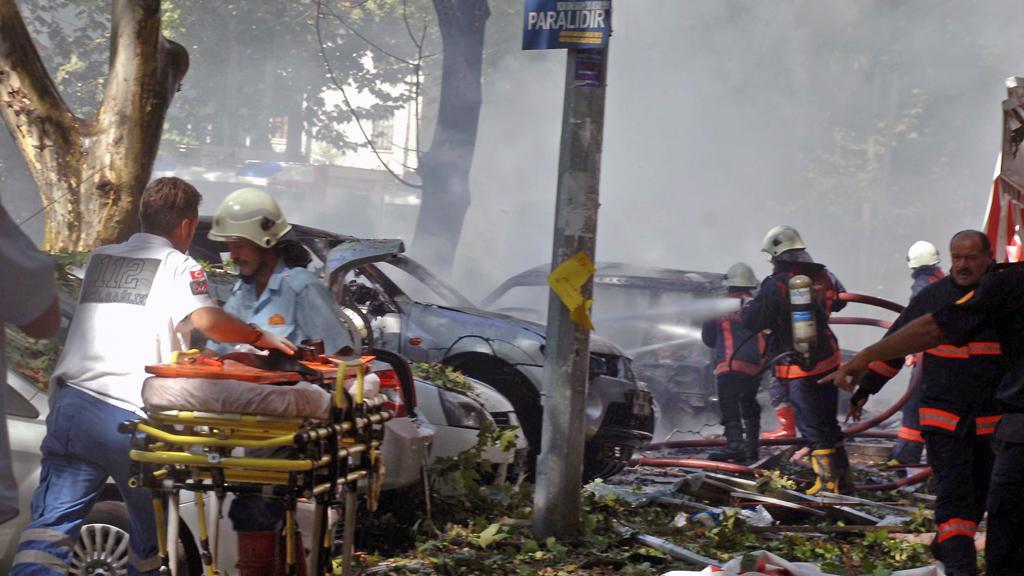 Následky exploze v Ankaře