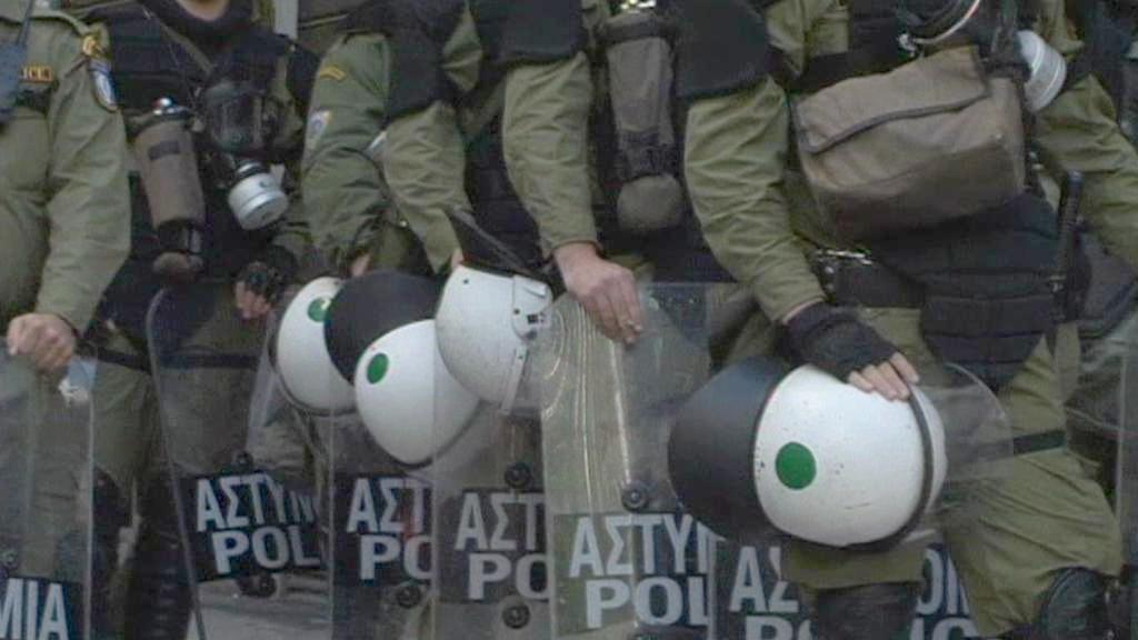 Kordon řeckých policistů