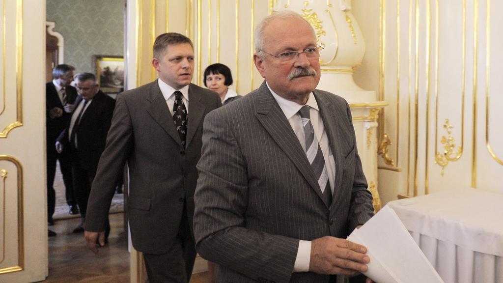 Ivan Gašparovič a Robert Fico