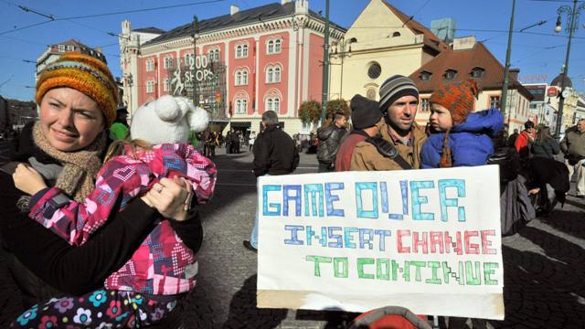 Pražský protest v rámci akce