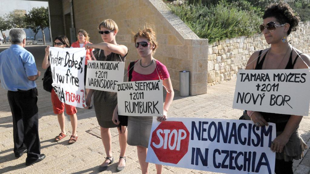 Protest proti Bátorovi v Izraeli