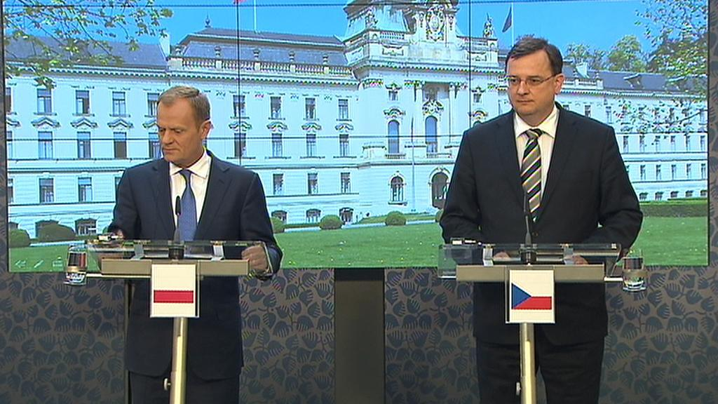 Donald Tusk a Petr Nečas