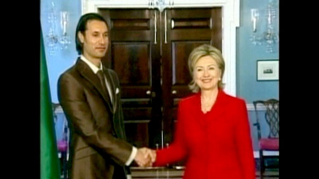 Mutasim Kaddáfí s Hillary Clintonovou
