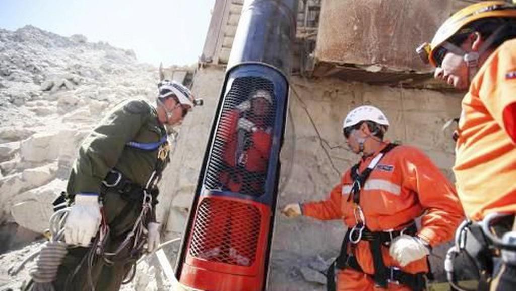Záchranná kapsle pro zavalené horníky