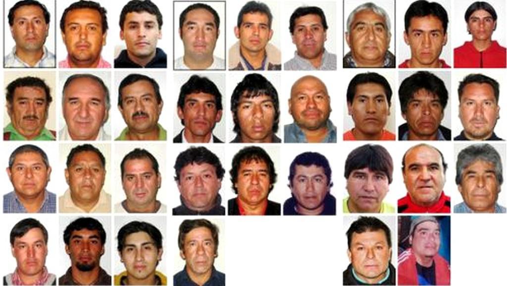 33 hrdinů z chilského dolu