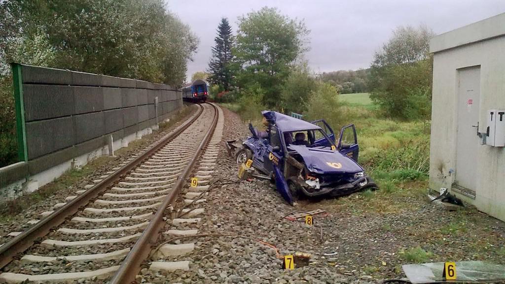 Nehoda na přejezdu