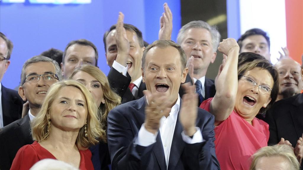 Donald Tusk, Malgorzata Tusková, Ewa Kopaczová