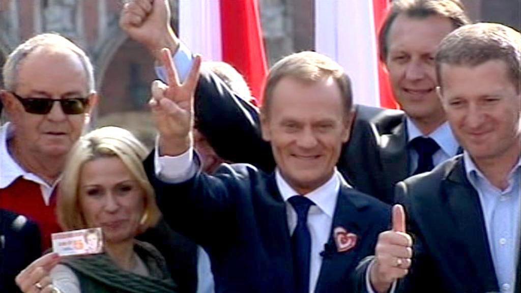 Donald Tusk a jeho straničtí kolegové