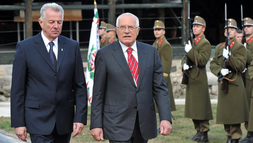 Václav Klaus a Pál Schmitt