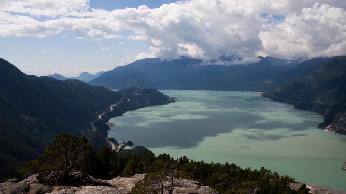 Výhled z hory The Cheff