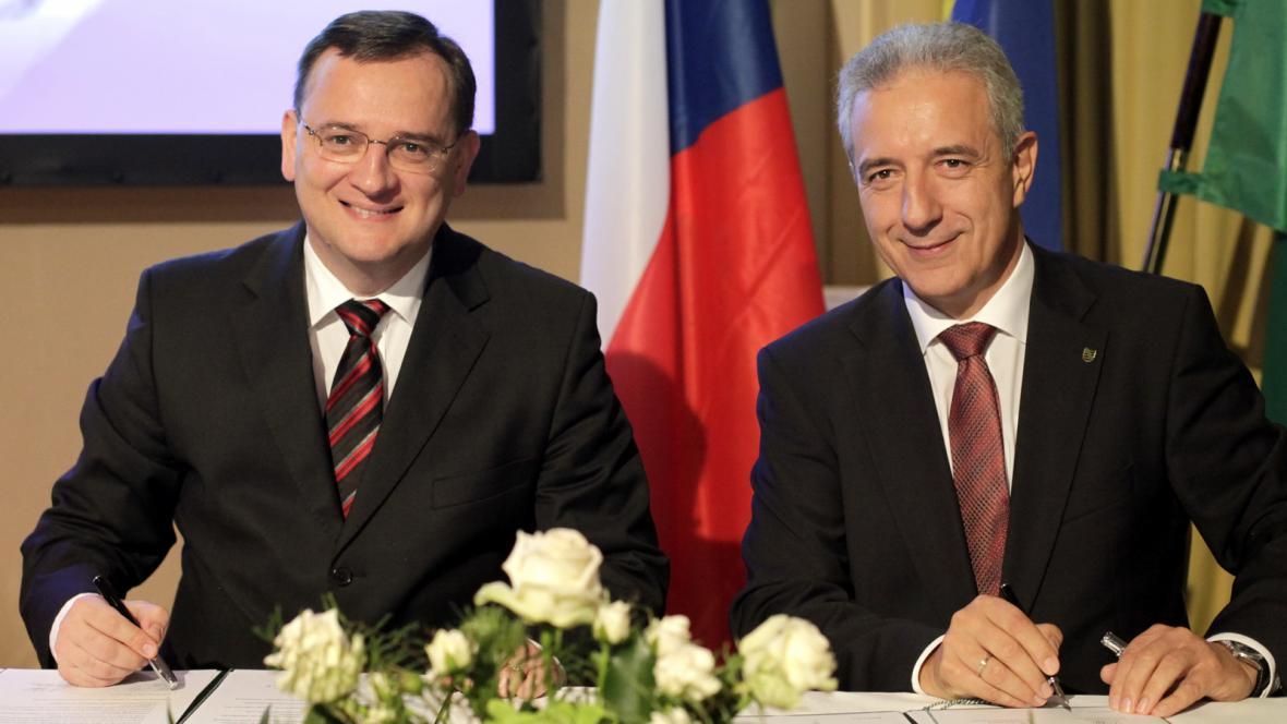 Petr Nečas a Stanislaw Tillich