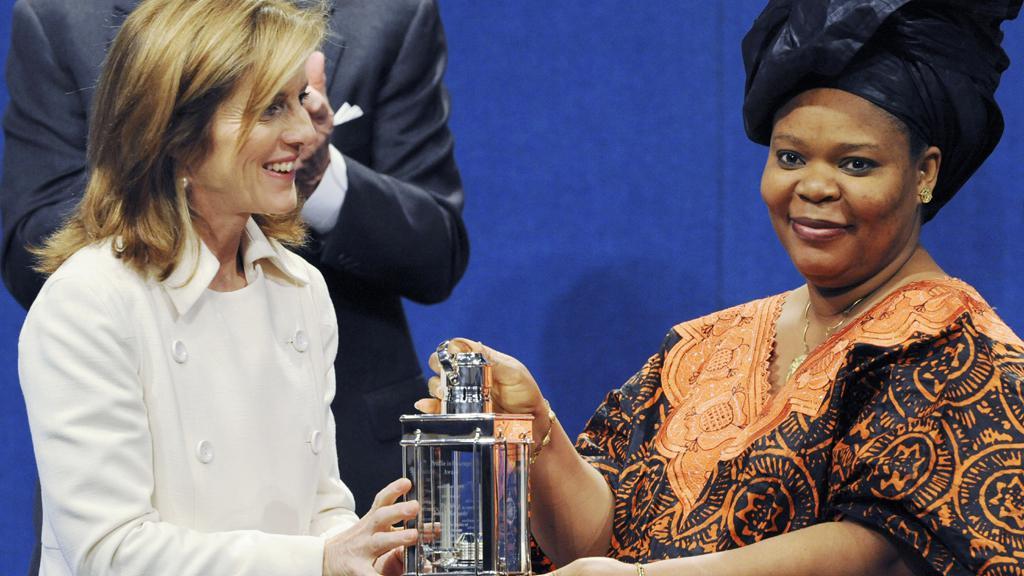 Liberijská mírová aktivistka Leymah Gboweeová