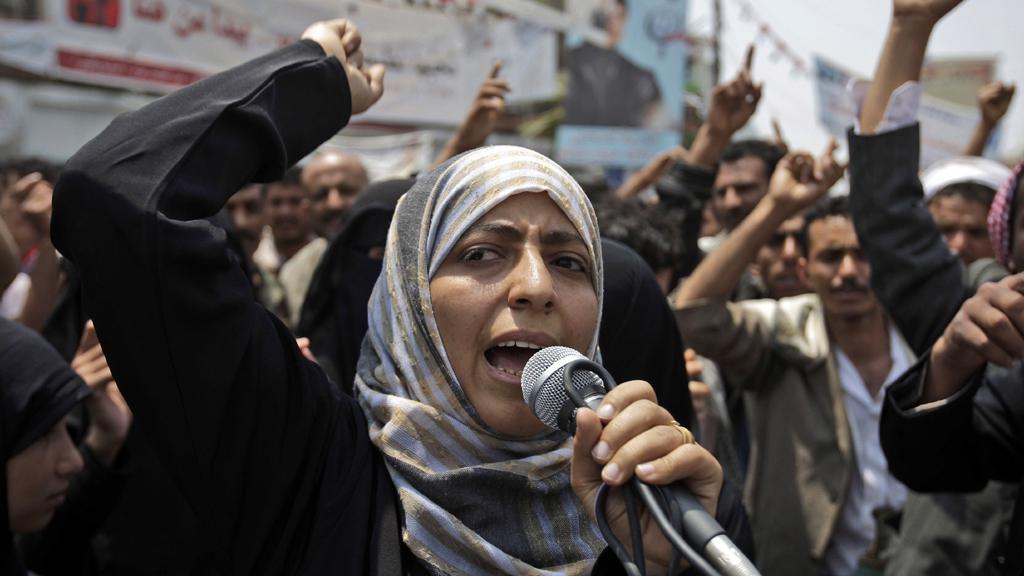 Jemenská bojovnice za práva žen Tawakkul Karmánová