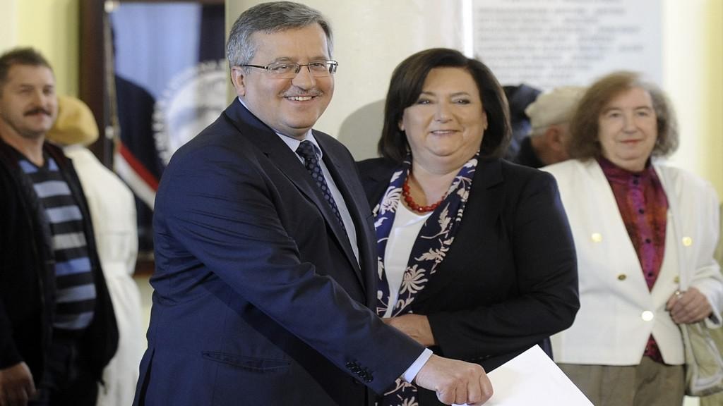 Bronislaw Komorowski s manželkou