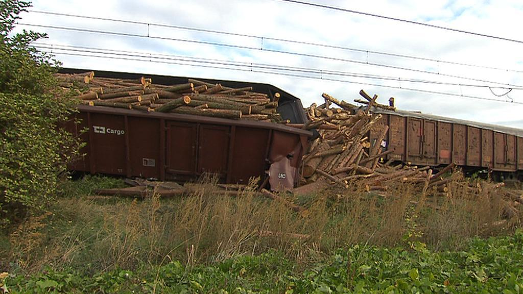 Nehoda nákladního vlaku