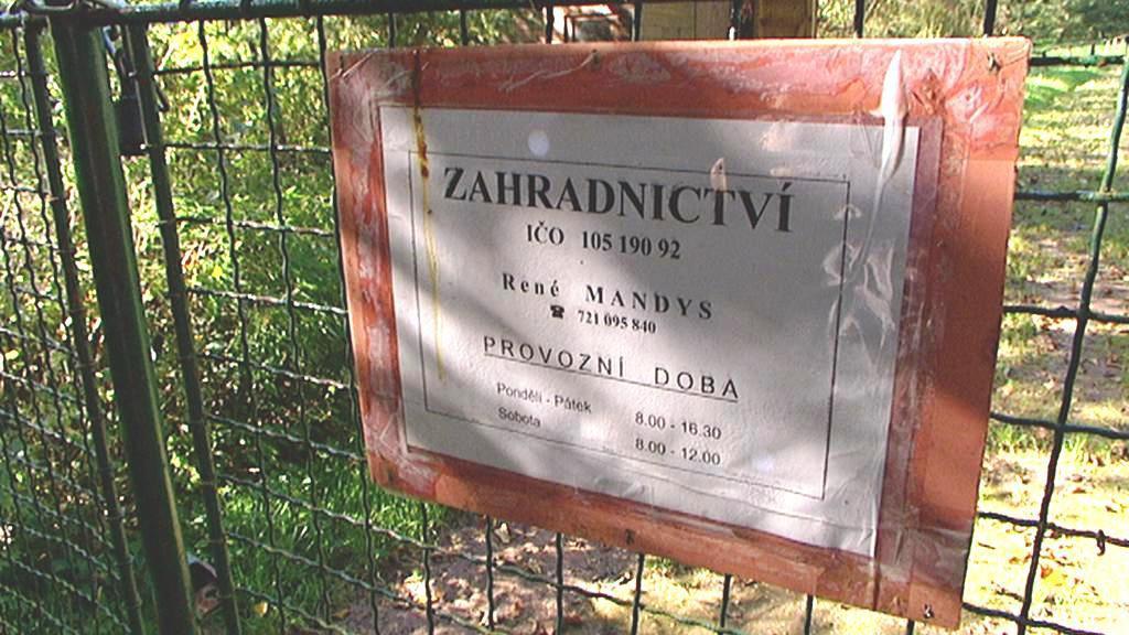 Dolní Olešnice - zahradnictví
