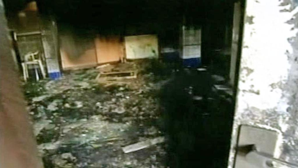 Vypálená mešita v Izraeli