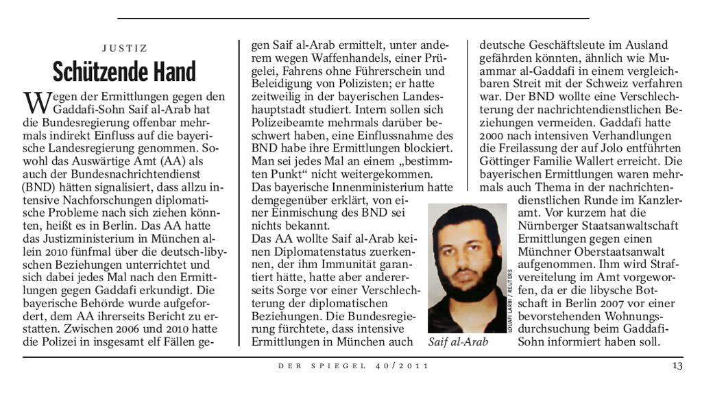 Der Spiegel 40/2011 o Sajfu Arabovi